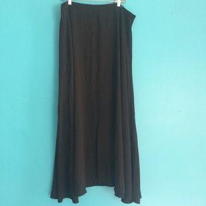 Eloquii crepe maxi skirt black flare